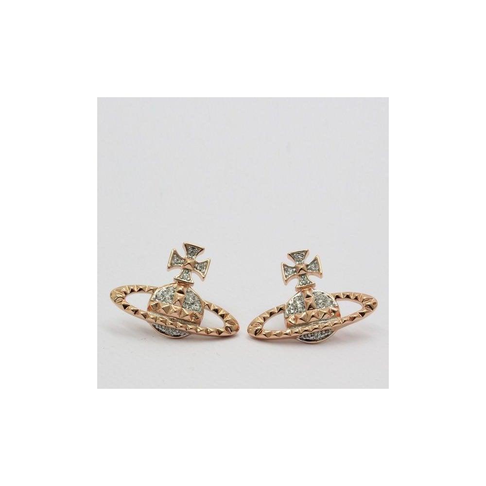 Vivienne Westwood Vivienne Westwood Mayfair Bas Relief Earrings Pink Gold Womens From Pilot Uk