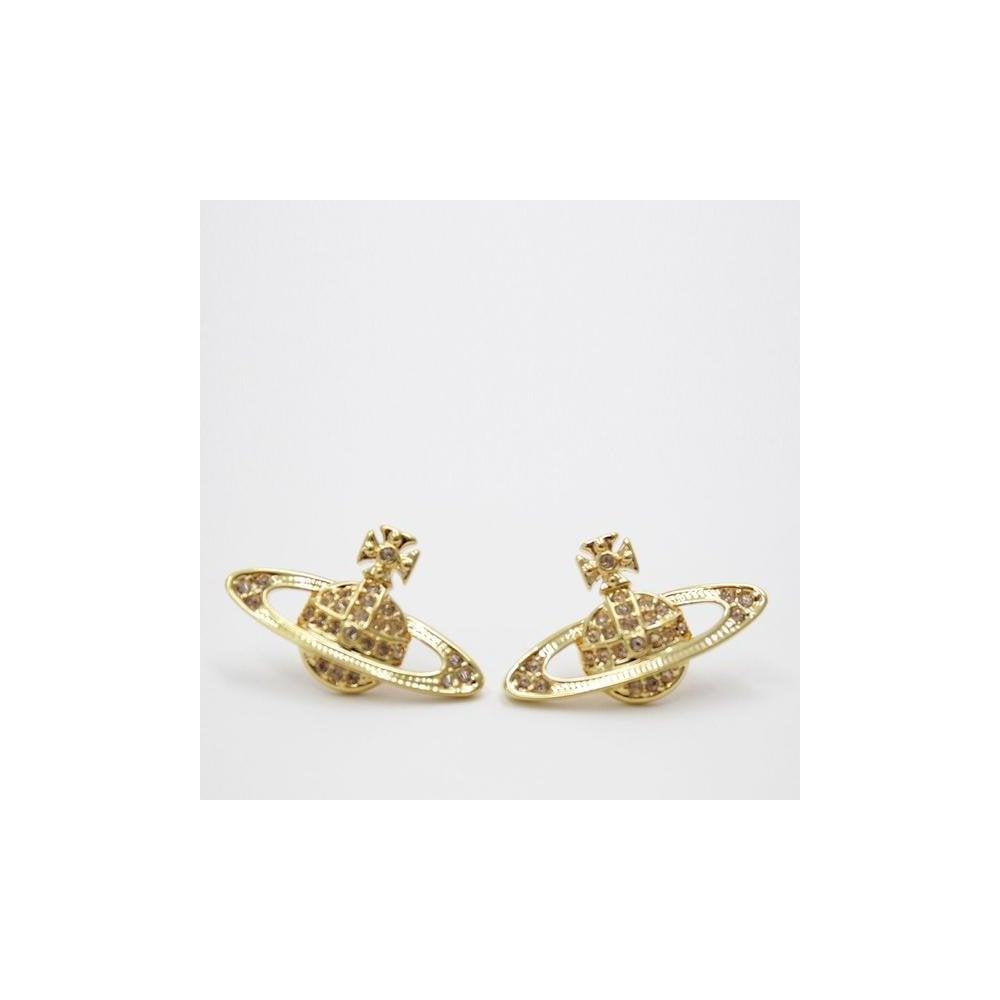 072658e7022 VIVIENNE WESTWOOD Vivienne Westwood Mini Bas Relief Earring Gold ...