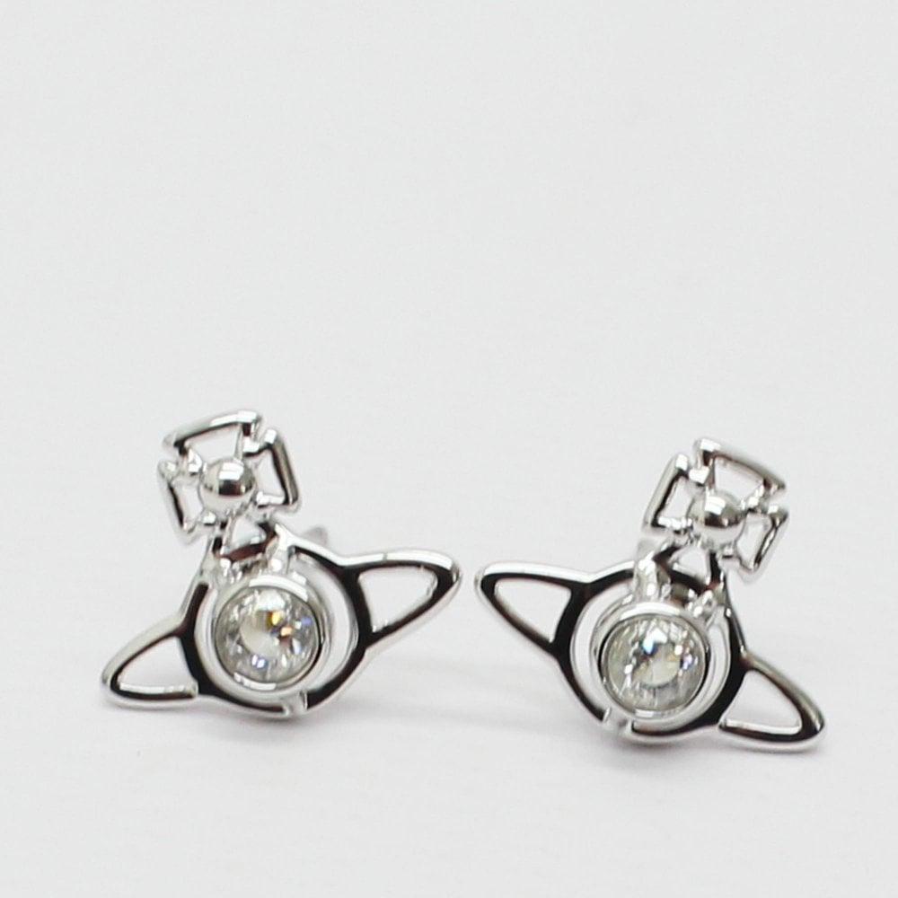 3b9570a9d VIVIENNE WESTWOOD Nora Stud Silver Earrings - Womens from PILOT UK