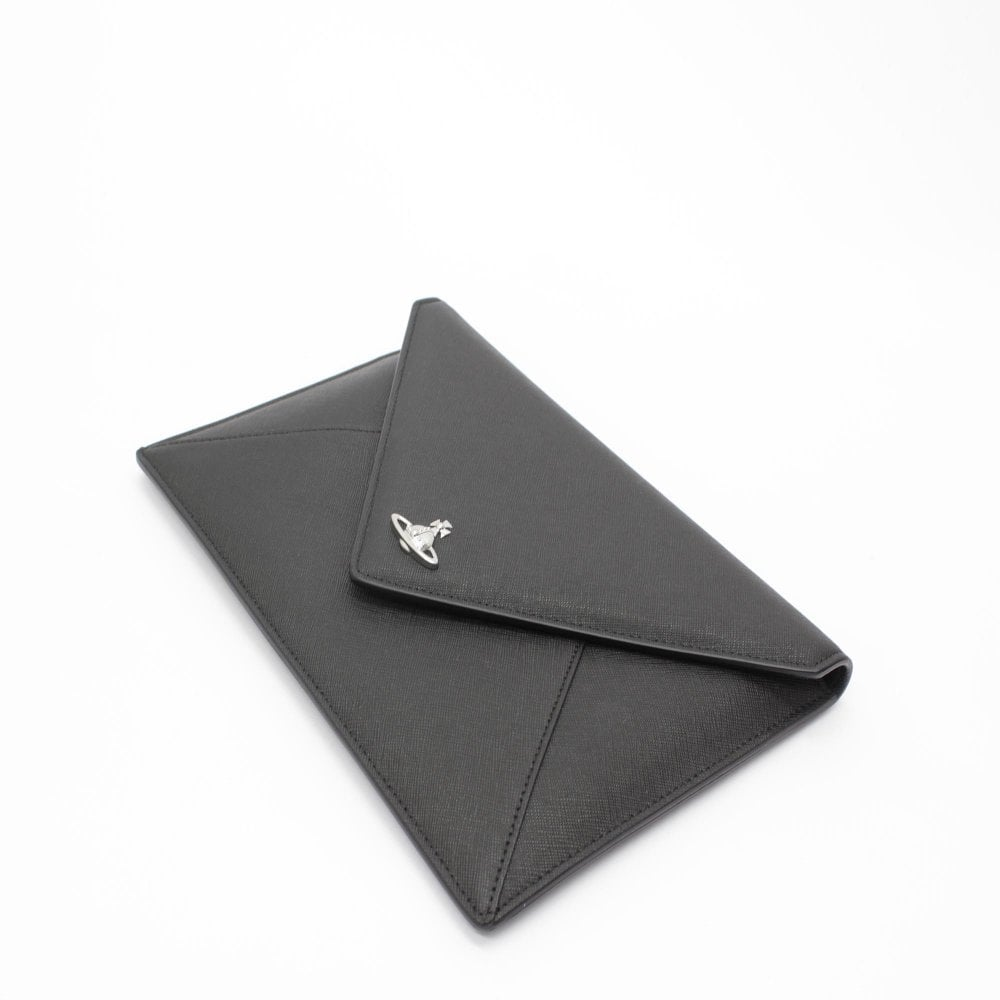 179f2c201 VIVIENNE WESTWOOD Victoria Black Envelope Clutch Bag - Womens from ...