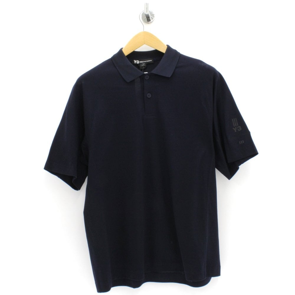 9f92590a2 Y3 New Classic Navy Polo Shirt - Mens from PILOT UK